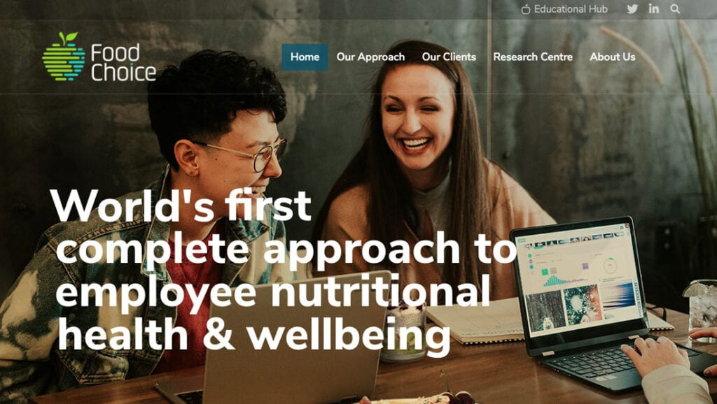 Case Study - Food Choice - Screenshot