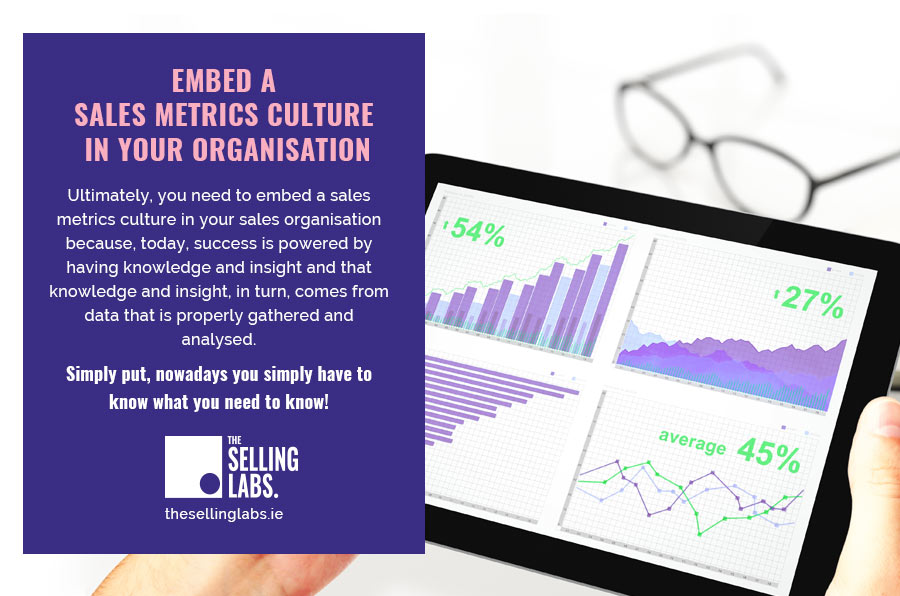 Sales Metric Culture Organisation - The Selling Labs