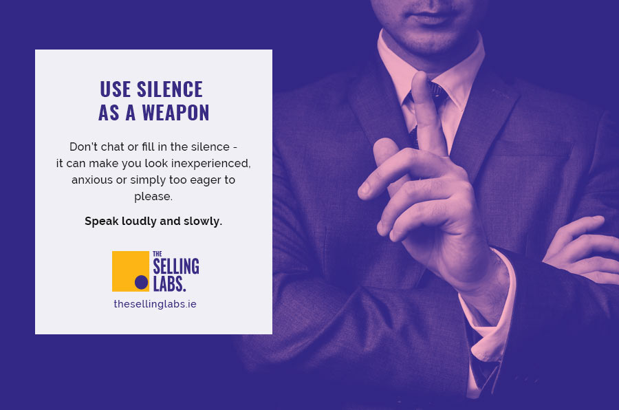 Use Silence as a Weapon - Executive Presence - The Selling Labs