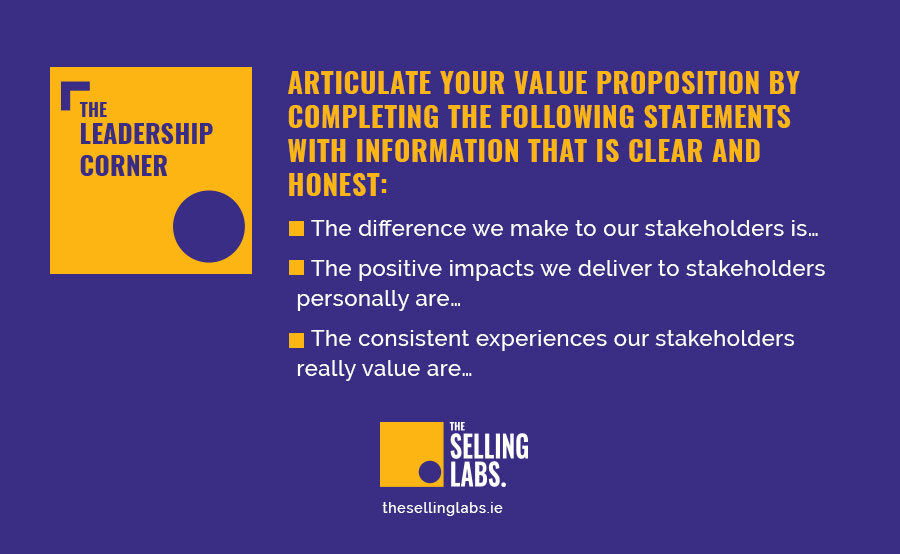 How to write a value proposition - Helen Blake - The Selling Labs